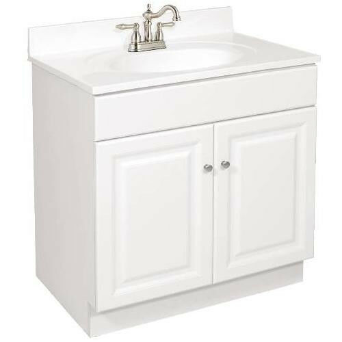 30 X 18 Wyndham Bathroom Vanity Cabinet Ready To Emble 2 Door White Ebay