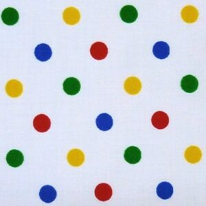 pudsey bear eye patch fabric white cotton sml spots ebay