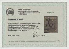 1850 2kr, TIEFSCHWARZ! MP, Type III.b, FEINSTDRUCK! Dr.Ferch:200,-€! VÖB! P!