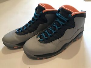 new product caf40 17a54 Details about Nike Air Jordan 10 Retro Bobcats Wolf Grey Powder Blue  310805-026 Size 11.5