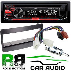 toyota avensis t22 jvc cd mp3 usb car stereo single din black facia rh ebay co uk
