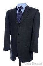BRIONI Nomentano Solid Gray Plaid Wool Dual Vent Jacket Pants SUIT Mens - 40 R