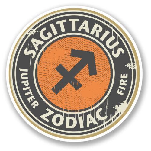 2 X Sagitario signo pegatina de vinilo el horóscopo de nacimiento Zodiac Regalo Ipad # 4322