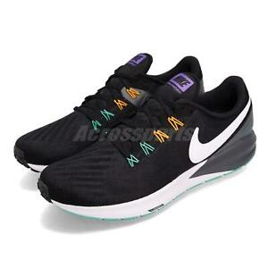 968f83f00d203 Nike Air Zoom Structure 22 Black White Grey Men Running Shoes ...