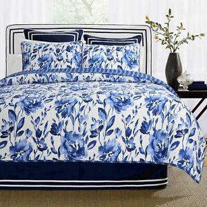 Porcelain Vase 100/%Cotton 3-Piece Reversible Quilt Set Bedspread Coverlet