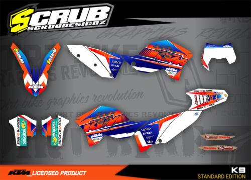 KTM graphics EXC decals kit 125 250 300 450 530 2008-2011 stickers /'08-/'11 SCRU