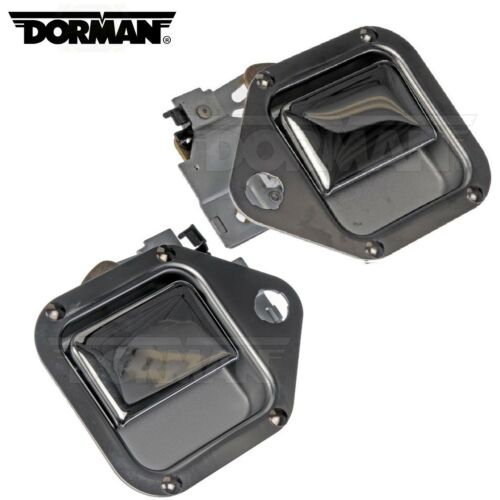 For Kenworth T800 Pair Set of Front Left and Right Chrome Exterior Door Handle