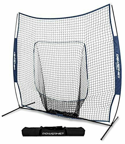 Sturdy Baseball & Softball Practice Net w  Weighted Base & Bow Frame (7 x 7)