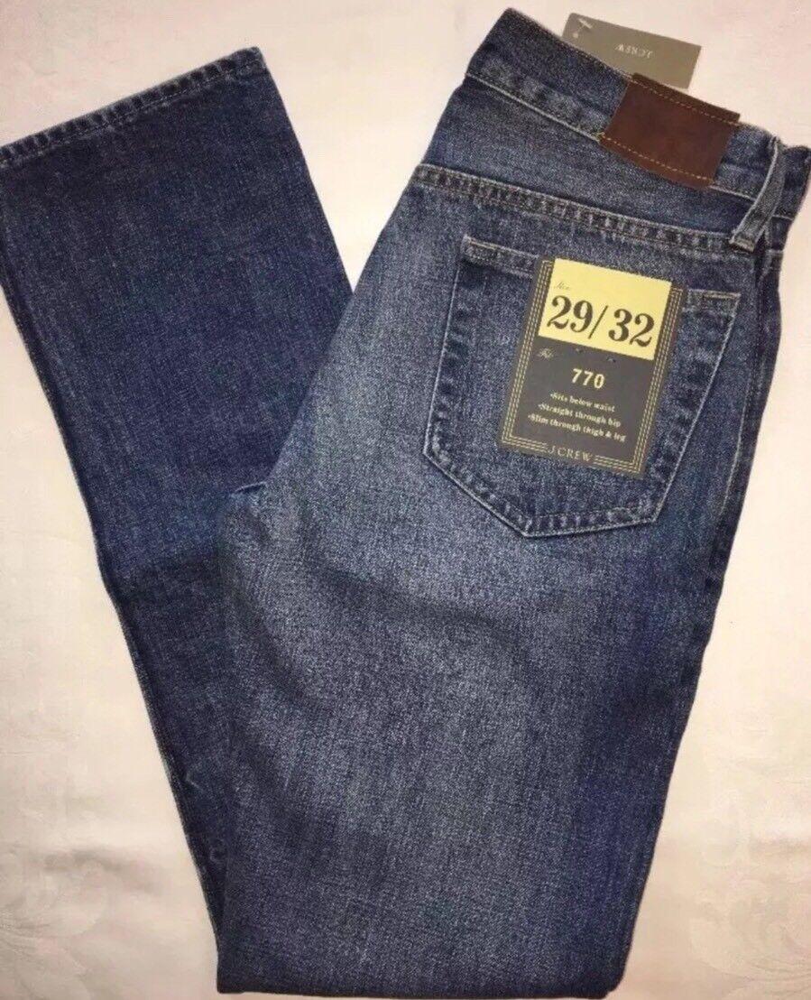J Crew Jeans 29 32 770 a0656 Vintage Light Wash  NWT VLW