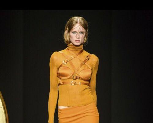 Versace Burnt Orange Bustier (Very Good Condition)