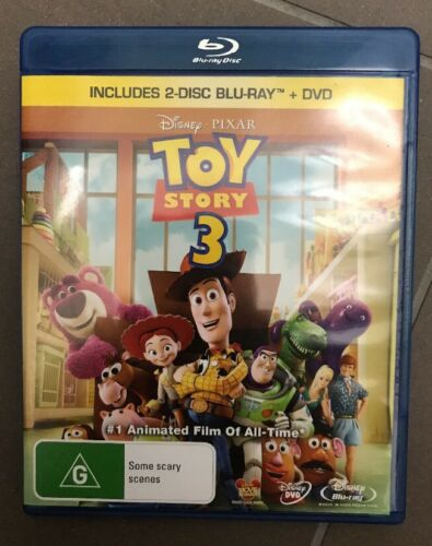 """1 of 1 - Toy Story 3 (Blu-ray and DVD, 2010, 2-Disc Set) """"Like New* - 💕Fast  Postage💕"""