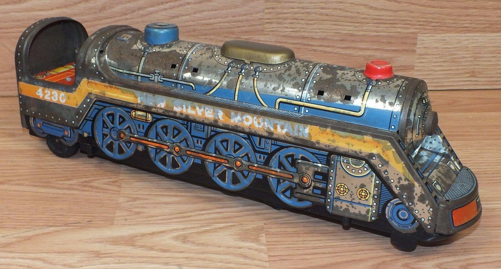para Repuesto  Vintage Modern Toys Tin Train (4230) Nuevo Plata montaña  lea