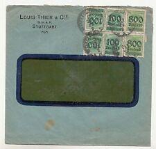 Brief Louis Thier & Cie Stuttgart 1923 Infla MF ! (B5