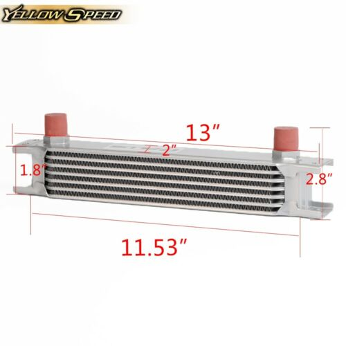 Gplus Universal Engine 7 Row An-10an TransmisSion Oil Cooler Sliver