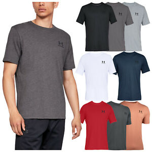 2020 Under Armour Mens Sportstyle Left Chest Logo Charged Cotton T Shirt Ua Top Ebay