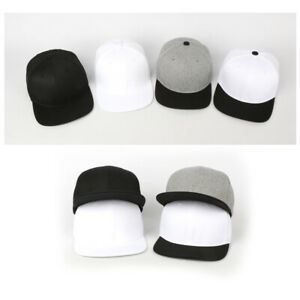einfarbig monochrom Flexfit Herren Damen Basecap Mützen Baseball Cap Hut Kappe