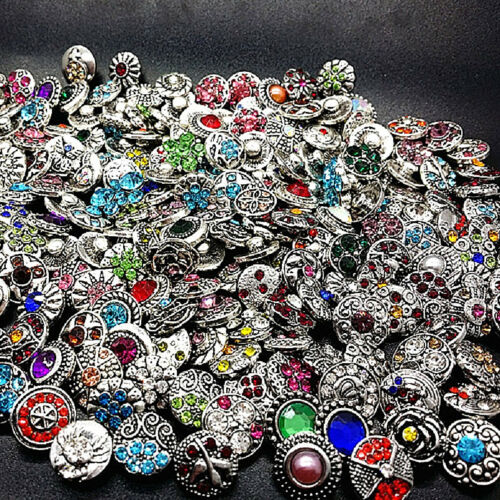 pack of 50 mix styles ginger 12mm mini snaps button metal charm snap jewelry