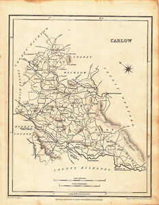Carlow Map Of Ireland.Details About 1837 Map Of Carlow Lewis Counties Of Ireland