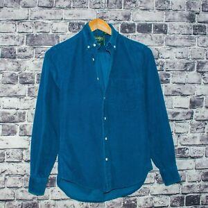 GITMAN-BROS-Vintage-fit-Men-039-s-Button-Front-Shirt-Blue-Corduroy-Size-XS-USA-Made