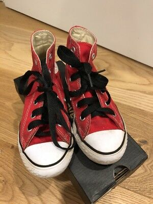 High Top Red Converse Toddler Size 12