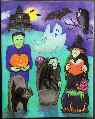 Vintage Stickers Gibson Greetings Halloween Adorable!!