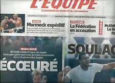 L'EQUIPE N°21894 2 27 JUIN 2014 TSONGA/ GASQUET/ FOURCADE/ McENROE&BORG/ MORMECK