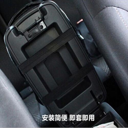 Black Car Center Armrest Console Soft Cushion PU Leather Mat Cover Cushion Pad