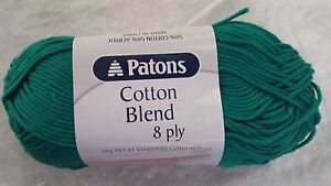 Patons-Cotton-Blend-8-Ply-30-Persian-Green-Cotton-Acrylic-50g