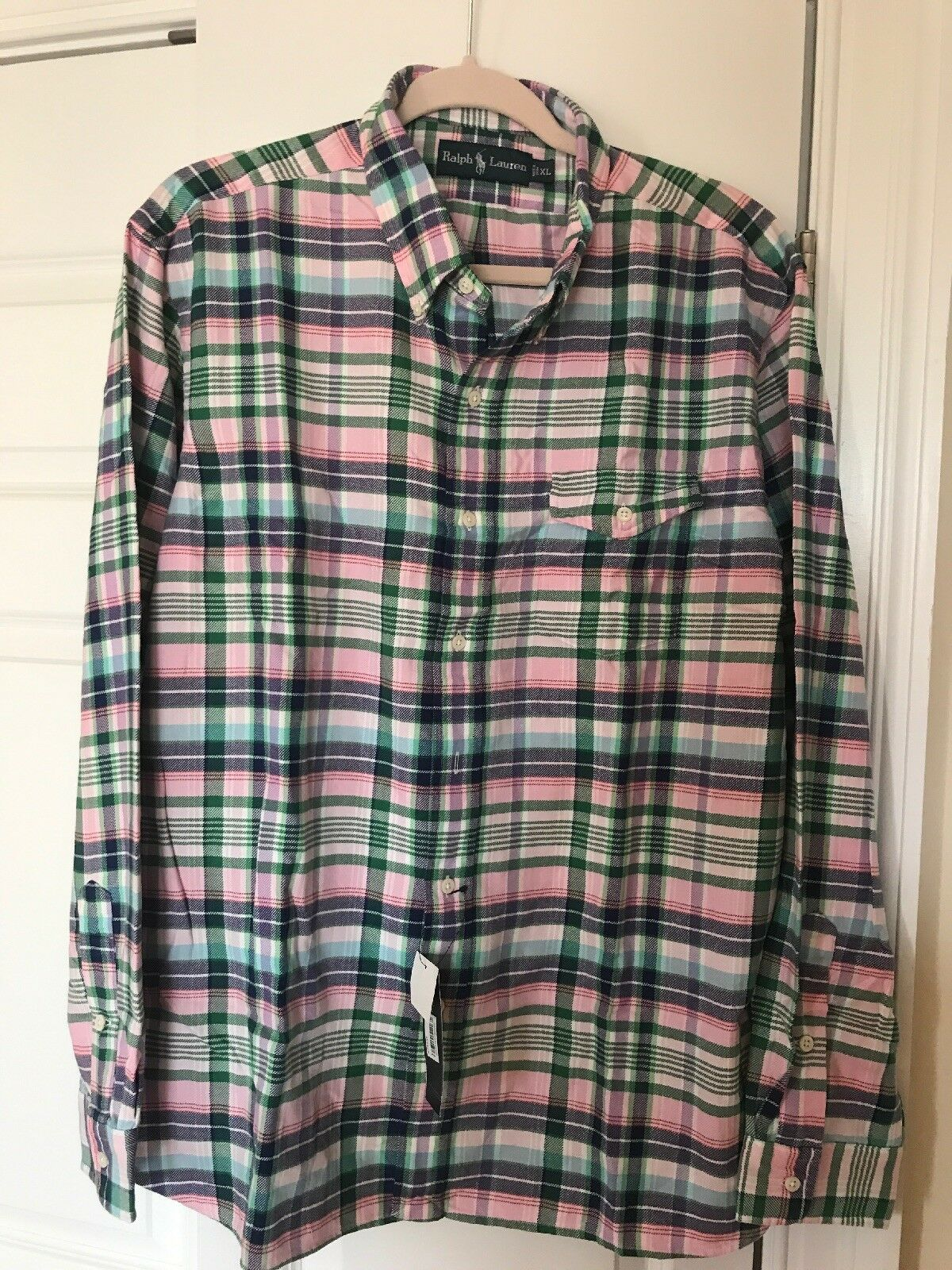 Polo Ralph Lauren men plaid shirt size XL