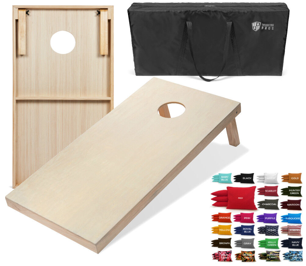 Set  of 4'x2' Cornhole Boards With 8 All Weather Cornhole Bags - 25 color Options  promotions