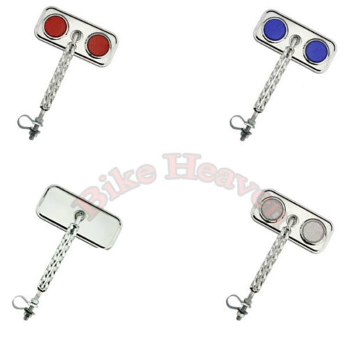 NEW Chrome Double Twisted Rectangle Bicycle Mirror Beach Cruiser Lowrider Bike