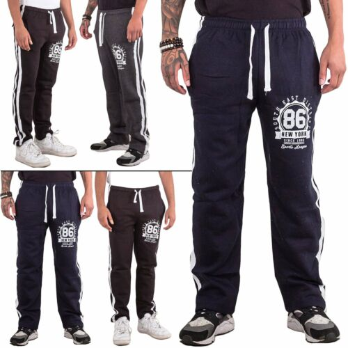 Mens Trouser Tracksuit Gym Track Pants Bottom Joggers Jogging Drawstring Elastic