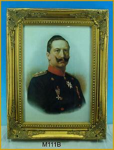 Gemaelde Preussen Bilderrahmen Kaiser Wilhelm II M111B