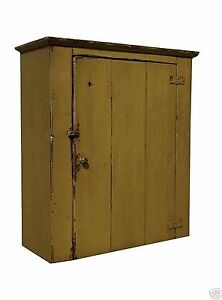 Image Is Loading FARMHOUSE WALL CABINET PRIMITIVE PAINTED PINE FURNITURE  COUNTRY