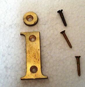 I-2-Brass-Letters-Letter-HOUSE-DOOR-Sign-2nd-ALPHABET