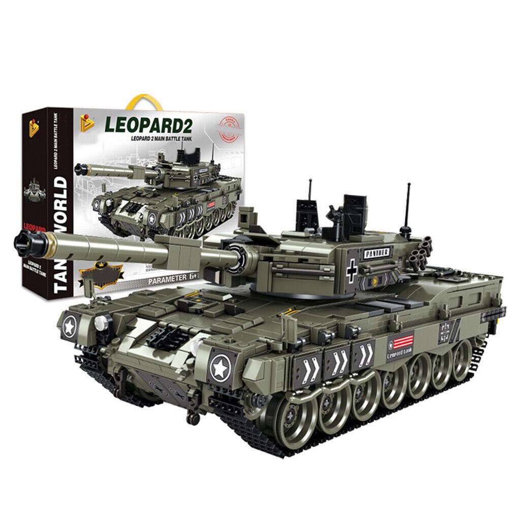 1747 Stücke Military Panzer Bricks Deutsch Leopard 2 Panzer Bausteine Model