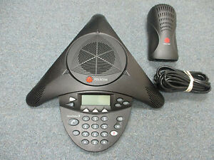 Polycom SoundStation 2 2201-16200-001 Expandable Display Conference Telephone #B