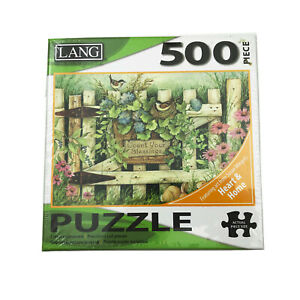 NWT-Lang-Garden-Gate-500-Piece-Puzzle-Art-by-Susan-Winget