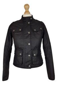 6b03114808605 Details about Q486 Barbour International SMU Quilt Black Streak Wax Biker  Utility Jacket, UK 8