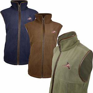 f7028f920d Details about Pheasant Embroided Fleece Gilet Shooting Body Warmer Vest  Hunting Jumper 002