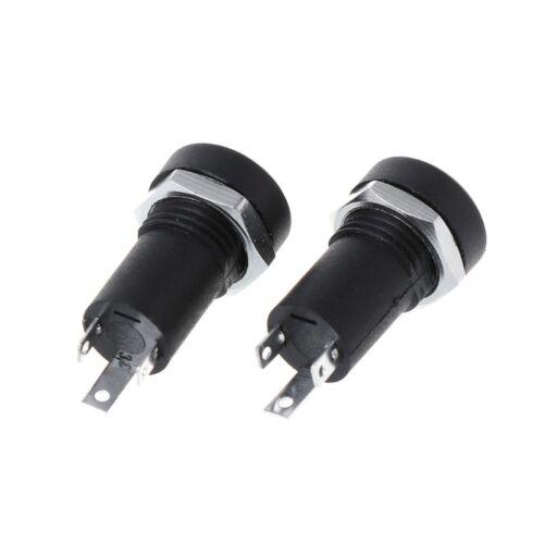2X 3.5MM Audio-Klinkenbuchse 3-polig schwarz Stereo-Lötfeldmontage mit Muttern