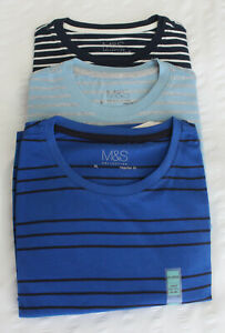 Para-Hombre-M-amp-S-Coleccion-Moderna-Tallas-S-M-Xl-Regular-Fit-puro-algodon-Camiseta