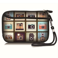 """Printed Cute Cameras Carry Bag Case Pouch For 2.5"""" USB External Hard Disk Drive"""