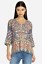 Beautiful-Johnny-Was-SANDRA-V-Neck-EMBROIDERED-Boxy-Blouse-Gray-S-278 thumbnail 1
