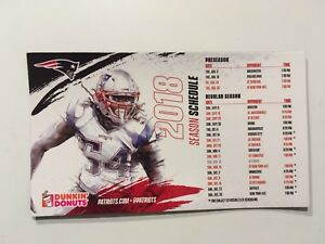 """NFL NEW ENGLAND PATROITS 2018 MAGNETIC FOOTBALL SCHEDULE 4"""" x 7"""" #54 HIGHTOWER"""