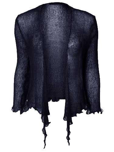 New Womens Tie Up Crochet Shrug Ladies Cropped Bolero Cardigans Top Sizes