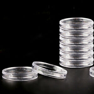 10-pcs-19-mm-Clear-Round-Cases-Coin-Storage-Capsules-Holder-Round-Plastic-BINSH
