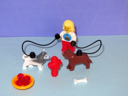 Husky German Shepherd Dog Pet + Lego Birthday Minifig MOC MADE OF LEGO BRICKS