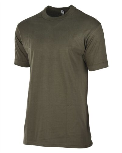 MIL-TEC coton Maillot Corps Manches Courtes Kaki Taille 4-9 Armée Hommes Maillot Corps T-Shirt