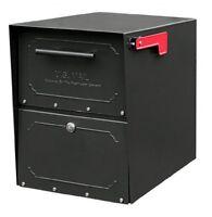 Architectural Mailboxes 6200b10 Oasis Jr. Locking Post Mount Mailbox, Black,